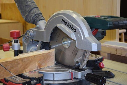 Carpentry, Cut-off Saw, Cutting Wood, Carpenter