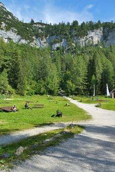 Dachstein-krippenstein, Dal, Mountains, Landscape, Alps