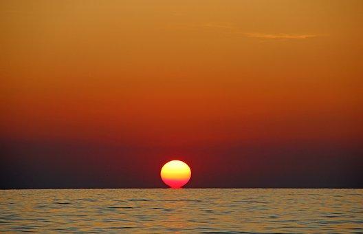Sunset, Afterglow, Abendstimmung, Evening Sky, Sky