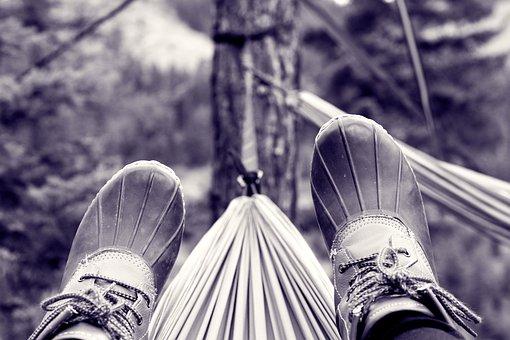 Feet, Hammock, Hammocking, Forest, Nature, Travel
