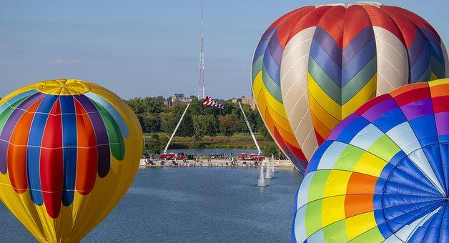 Hot Air Balloon, Balloons, Balloon, Sky, Flying