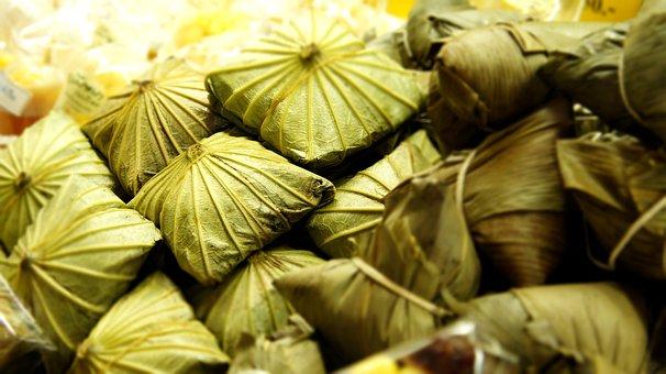 Steamed Fried Rice In Lotus Leaf, Asian Food, Food