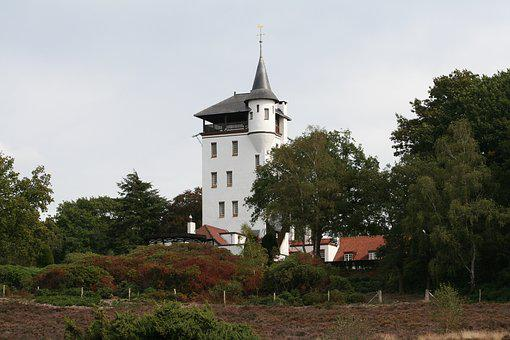 Forest, Tower, Palthetoren, Heide, Trees, Castle