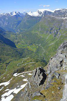 Dalsnibba, Norway, Geiranger, Switchback, Mountain