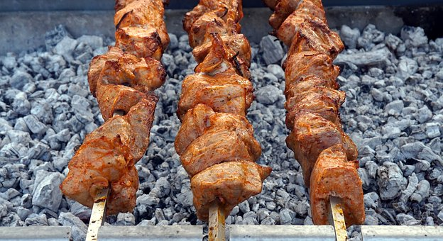 Barbecue, Spit, Meat, Grill, Grilled, Eat