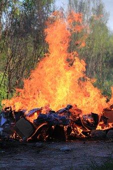 Fire, Trash, C, Red, Bonfire, Flame, Flames, Heat