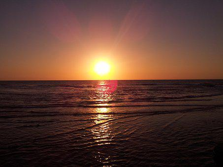 Sky, Horizon, Sea, Sun, Sunset