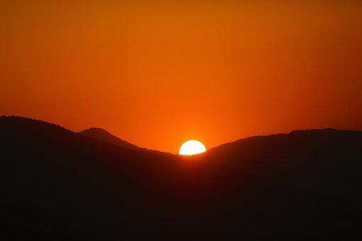 Sunset, Nature, In The Evening, Sky, Horizon, Solar