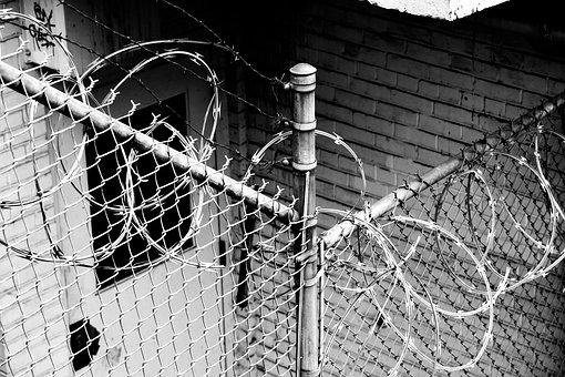 Barbed Wire, Fence, Wire, Security, City, Iron, Caution