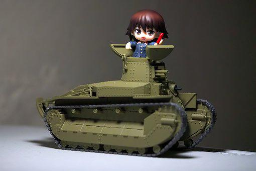 Tank, Girls, And, Panzer, Young, Lady, Japanese, Anime