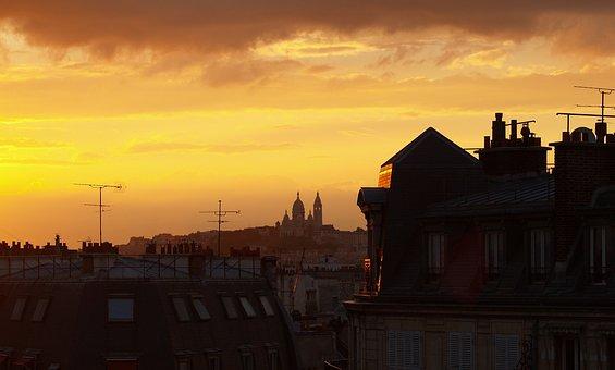 Paris, Montmartre, Roofs, France, City