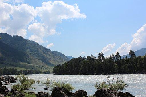 Mountains, River, Mountain Altai, Nature, Landscape