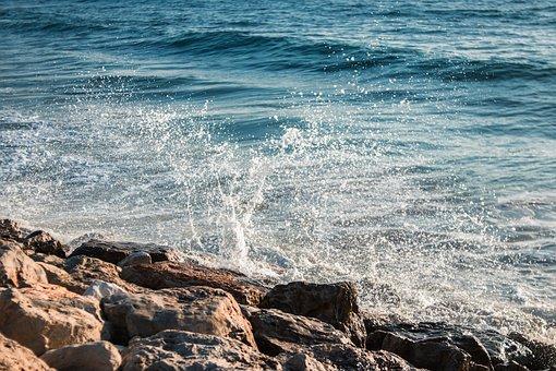 Sea, Rocks, Water, Ocean, Nature, Beach, Stones, Blue