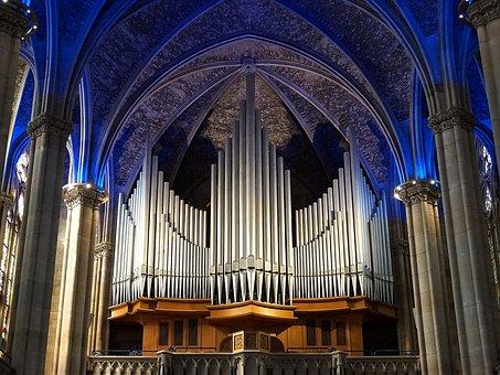 Organ, Church, Cathedral, Instrument, Church Organ
