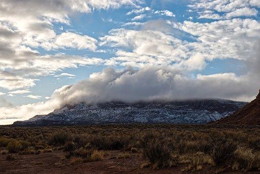 Mountain, Cloud, Sky, Landscape, Nature, Outdoors