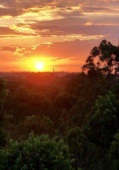 Sunset, Mountain, Landscape, Scenic, Outdoors, Sky