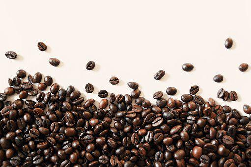 Coffee Beans, Distributed, Scattered, Brown, Coffee