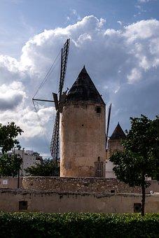 Majorca, Mill, Spain, Sky