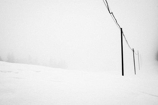 Snow, White, Nero, Nature, Sibillini, Italy, Contrast
