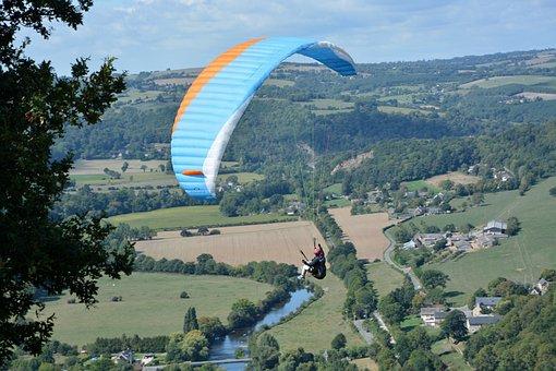 Paragliding, Free Flight, Sport, Activity, Wind