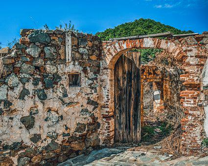 Gate, Old, Stone, Aged, Decay, Doorway, Entrance