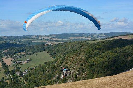 Paragliding, Take Off, Flight, Free Flight, Sport