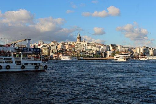 Istanbul, Estuary, Marine, Galata, Beach, Travel