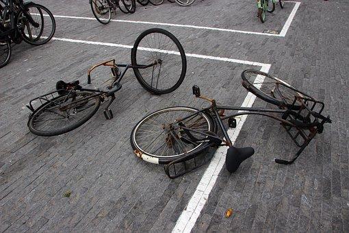 Bike, Wheel, Broken, Wheels, Cycling, Vehicle, Cyclists