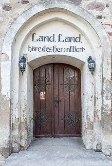 Input, Church, Wood, Church Door, Old