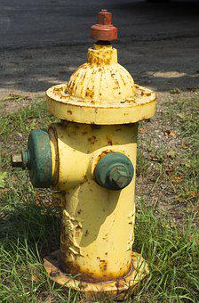 Fire Hydrant, Yellow, Safety, Fire, Equipment, Street