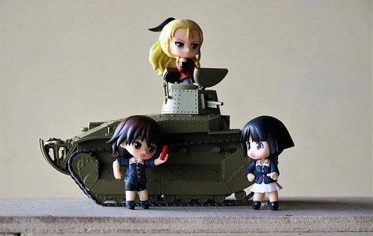Girls, And, Panzer, Tank, Type, 89, Japanese, Anime