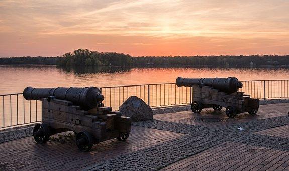 Sunset, Berlin, Dusk, Sky, Waters, Abendstimmung