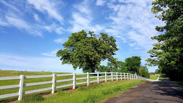 Country Road, Ranch, Rural, Sky, Farm, Acreage