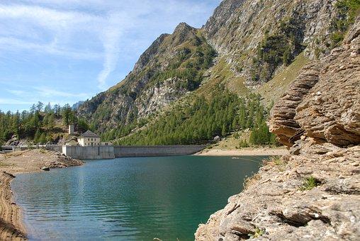 Lake Devero, Alps, Dam