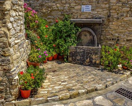 Cyprus, Kato Lefkara, Village, Street, Architecture