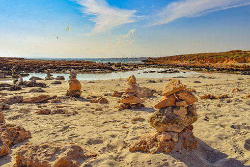 Beach, Stones, Sand, Sea, Sky, Clouds, Autumn