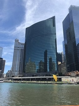 Chicago, Architecture, River, City, Downtown, Skyline