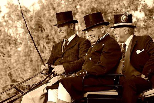 Coachman, Coach, Reins, Whip, Men, Person, Top Hat