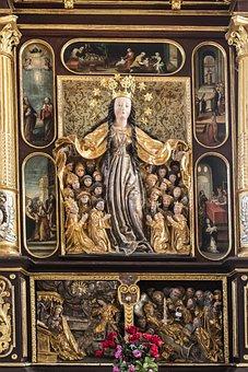 Altar, Madonna, Maria, Protection, Coat, Church