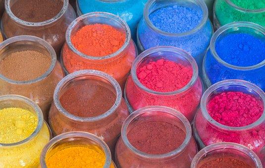 Colors, Paint, Powder, Jars, Colorful, Color, Painting