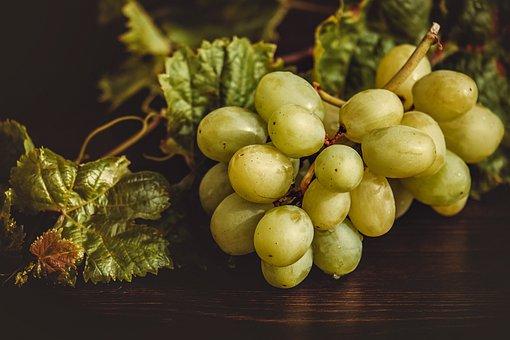Grapes, Fruit, Green, Ripe, Delicious, Fresh