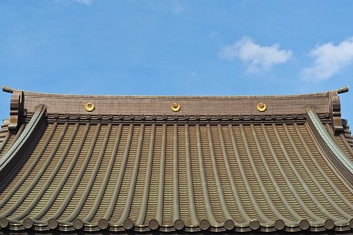 Architecture, Roof, Detail, Ornaments, Japanese, Asia