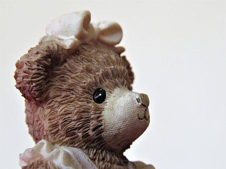 Figure, Statue, Teddy Bear, Bear, Bow, Toy, Collectable