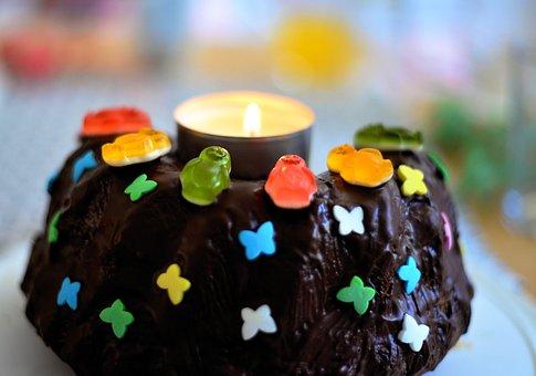Birthday Cake, Cake, Chocolate, Fruit Jelly