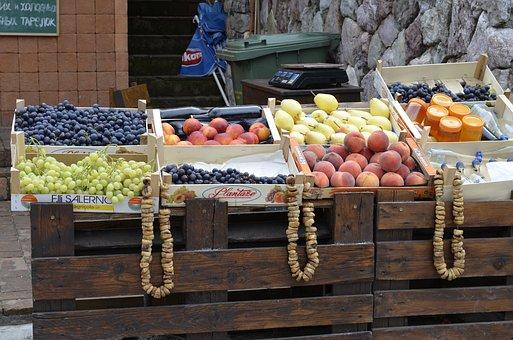 Fruit, Montenegro, Figs, Peaches, Grapes