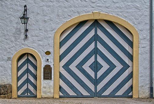 Goal, Door, Portal, Archway, Historically, Old