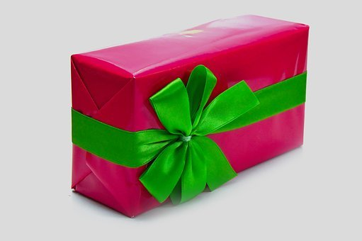 Pink, Packaging, Box, Wrapping, Green Bow, Design