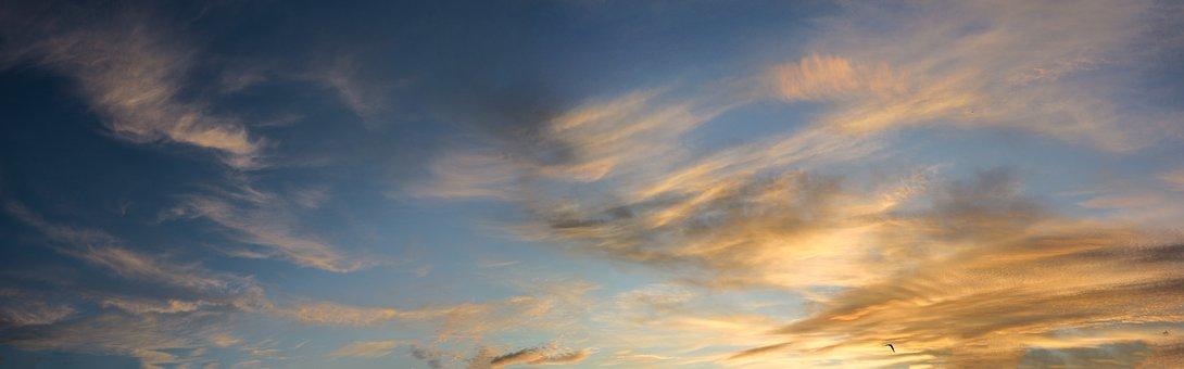 Sunrise, Sky, Panorama, Clouds, Dawn, Horizon