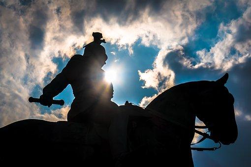 Reiter, Still Image, Sunbeam, Equestrian Statue, Horse