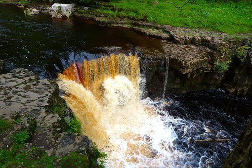 Kisdon Force, Keld, Yorkshire, Waterfall, Power, Water